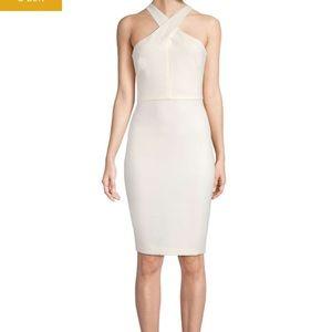 White Halter-Neck Dress